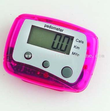 Pedometer for counting steps and staying active
